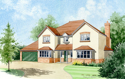 Artists impressions architectural illustrations house for Impressions home designs